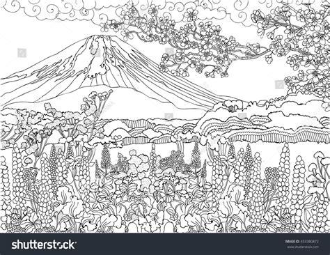 mountain landscape coloring page mountain landscape coloring pages