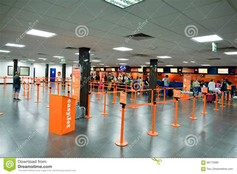easyjet check inn easyjet check in area editorial photo image 66175996