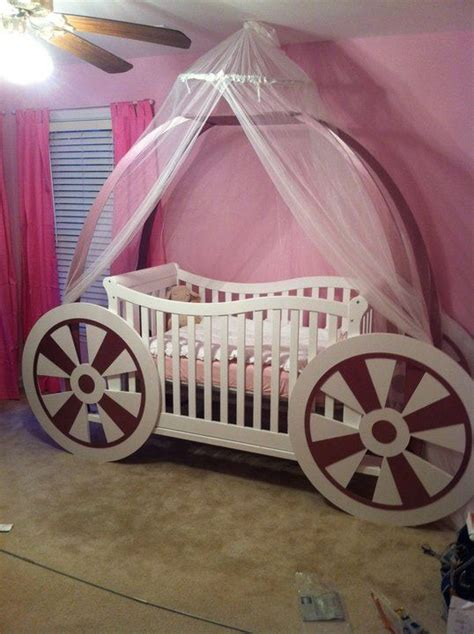 Baby Princess Carriage Crib Crazy Cool Stuff Pinterest Baby Carriage Crib