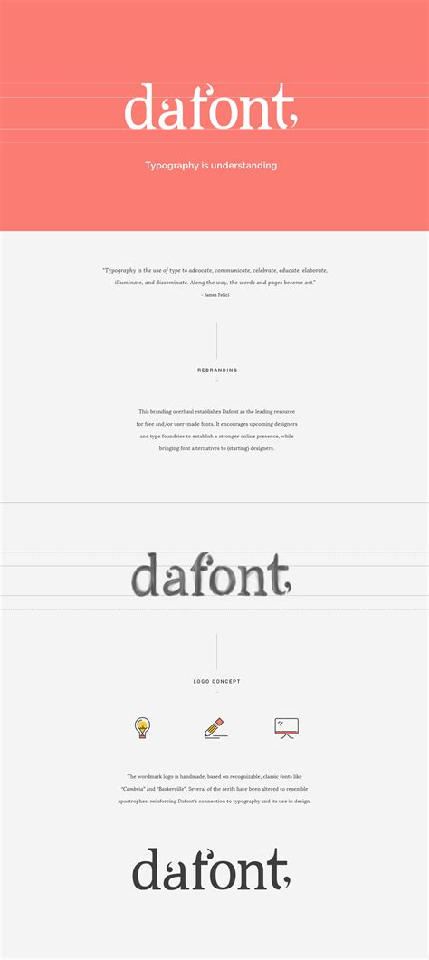 dafont rebranding   behance