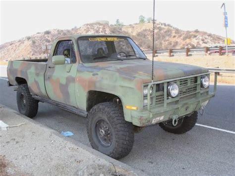 chevrolet army truck 1986 chevy cucv m1008 dirt every day alabama army truck 1