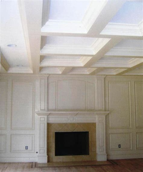Tray Ceiling Dimensions Coffered Tray Ceilings Traditional Living Room New