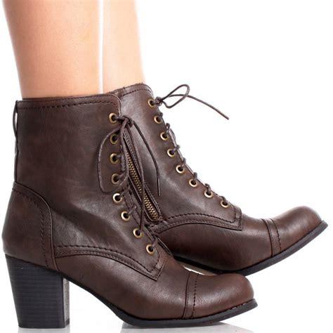 brown heel boots shoes mod