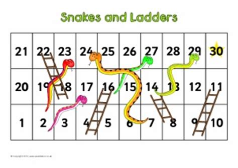 printable snakes and ladders template counting activities primary teaching resources sparklebox