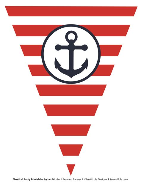 free nautical party printables from ian lola designs