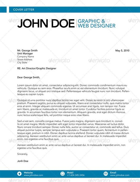 cover letter design template cover letter graphic web designer cover letters
