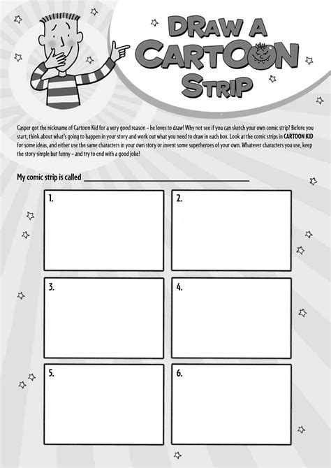 draw a cartoon strip scholastic kids club