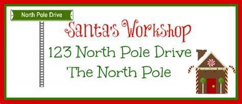 Printable Address Labels From Santa | free printable santa envelopes north pole search results