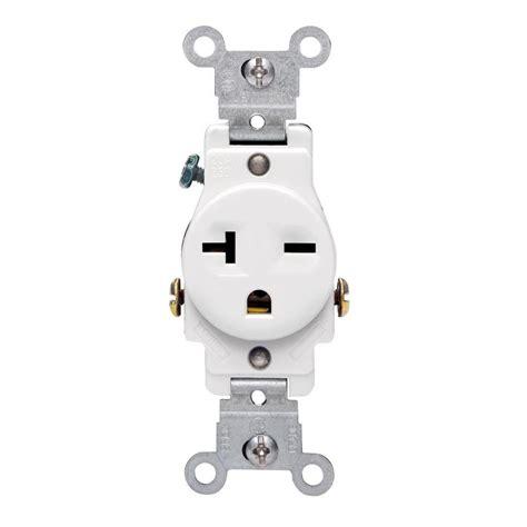 leviton 20 pole single outlet white r52 05821