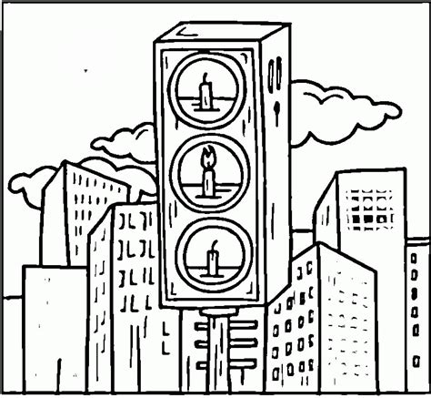Traffic Light Coloring Page Coloring Home Traffic Light Coloring