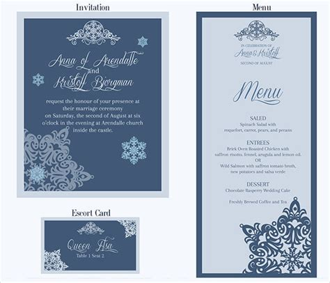 free menu card template 26 downloadable wedding cards