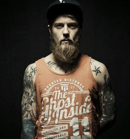 red beard tattoo thick beard and mustache beards bearded