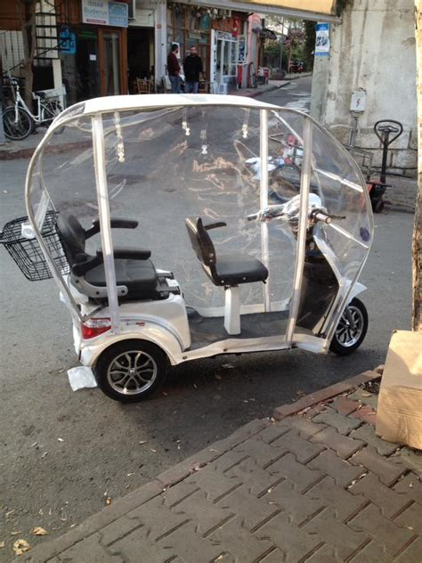 tekerlekli motorlara kislik kabin ueretimi elektrikli