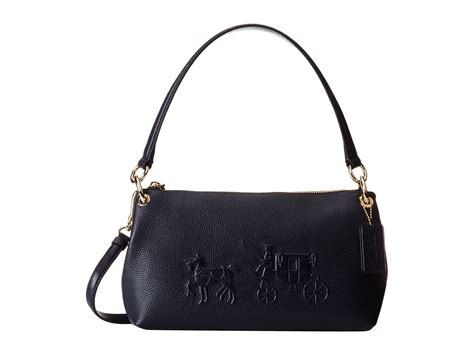 coach embossed and carriage crossbody in
