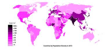 list of countries by population density simple
