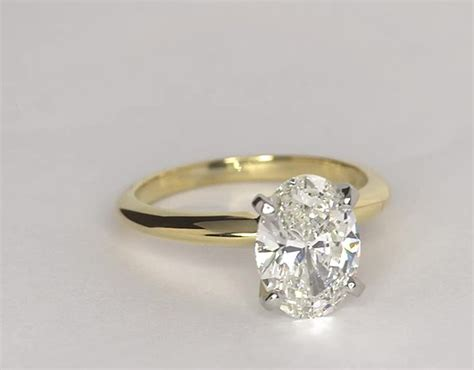 Yellow Gold Solitaire Engagement Rings And by Classic Four Prong Solitaire Engagement Ring In 18k Yellow