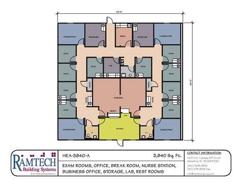medical office floor plan 3840 sf medical clinic floor plan ramtech building systems