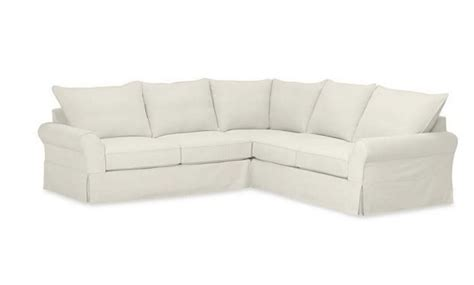 pottery barn slipcover sectional new pottery barn comfort 3 pc sectional slipcovers knife