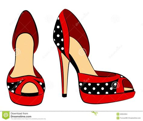 8 Gorgeous Pairs Of Shoes by Beautiful Pair Of Shoes With High Heel Stock Images