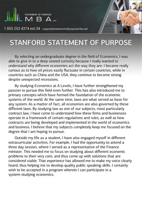 Stanford Application Requirements Mba by Stanford Statement Of Purpose Statement Of Purpose Mba