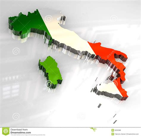 flag map  italy royalty  stock  image