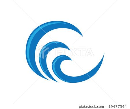 jp stock symbol wave symbol and icon logo template vector stock