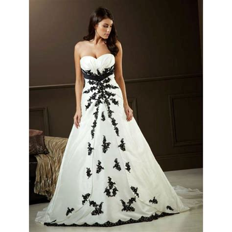 Black And White Wedding Dresses by White Wedding Dresses With Black Accents Pictures Ideas