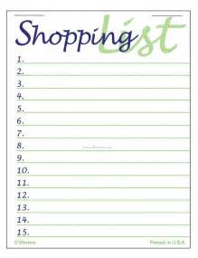 shopping list templates find word templates