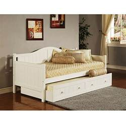 Daybed With Trundle Staci Daybed With Trundle White Walmart