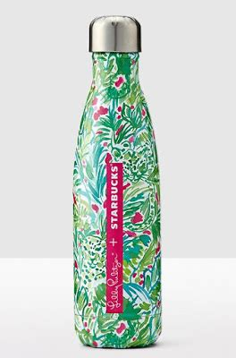lily pulitzer swell bottle limited edition lilly pulitzer starbucks s well water