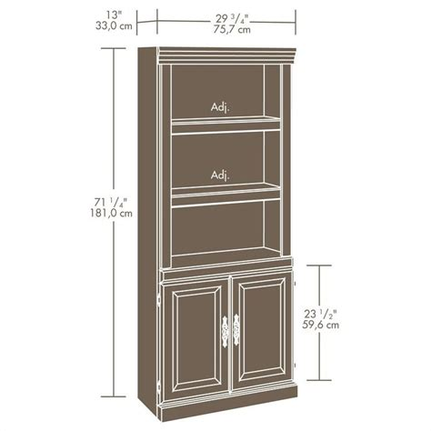 3 Shelf Cabinet by 3 Shelves Wall Bookcase With Cabinet In Cherry 102792