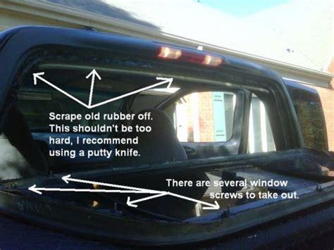 Seal Water 150 fixing rear window leak 97 03 f150 ford f150 forum