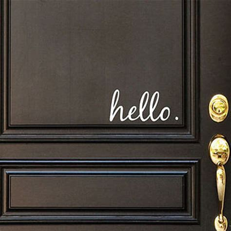 hello home decor hello vinyl door decal hello front door decals hello