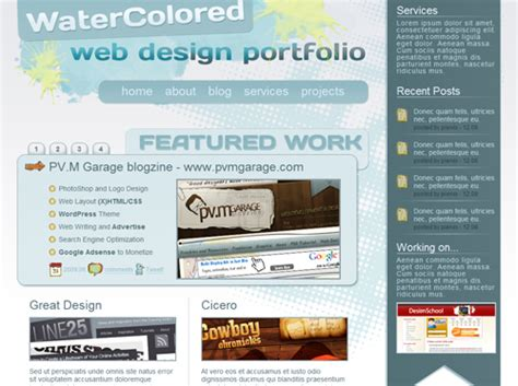 tutorial css portfolio portfolio css tutorials and free wordpress themes