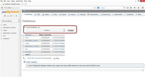 make database how to create and use mysql database using php myadmin h