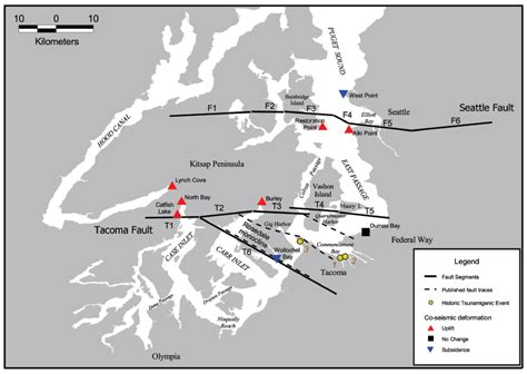 seattle fault map the seattle fault zone structural geology of