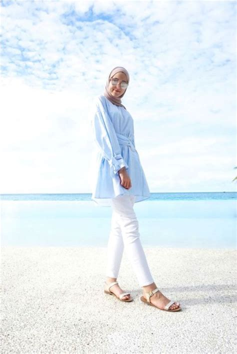 hijab outfits   beach  trendy girls