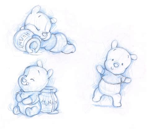 shane art baby pooh friends sketches