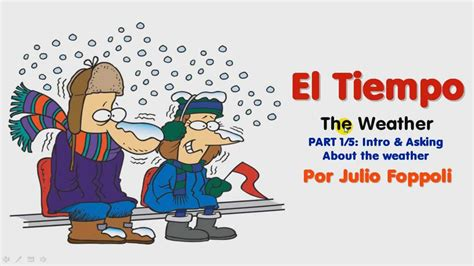 el tiempo the el tiempo the weather lesson 1 5 asking about the weather youtube