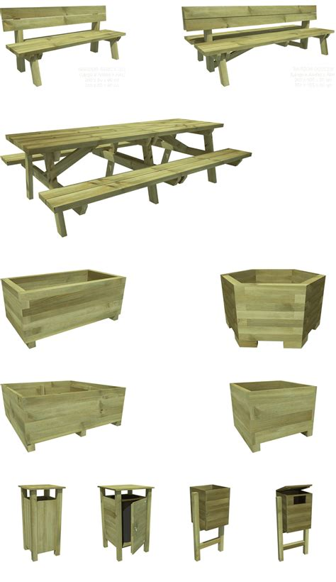 grupo imagenes y muebles urbanos mobiliario urbano de madera