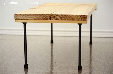 pipe bench legs rustic modern coffee table or bench with plumbing pipe
