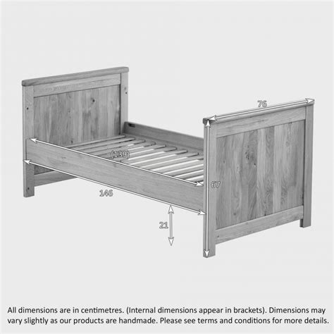 3 In 1 Futon by Bevel 3 In 1 Cot Bed In Solid Oak Oak Furniture Land