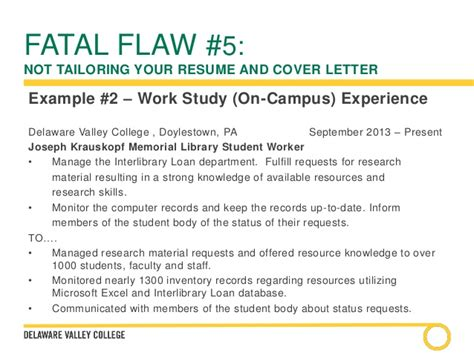 work study cover letter cover letters and resumes a comprehensive overview