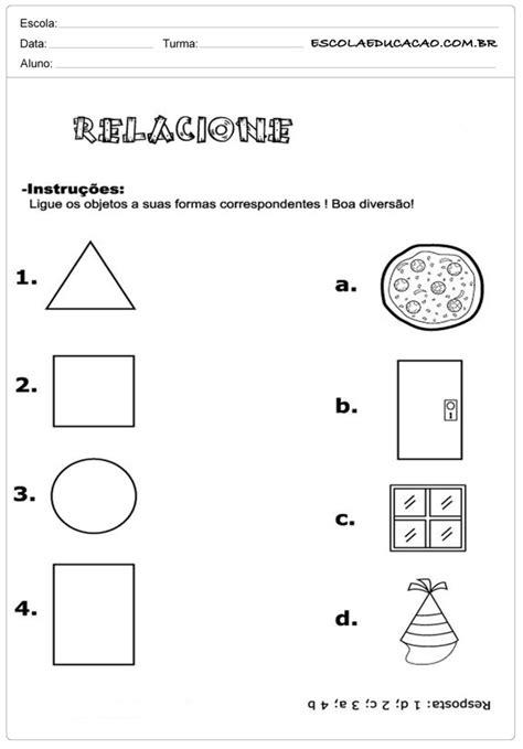 figuras geometricas atividades 4o ano atividades com formas geom 233 tricas atividades educativas