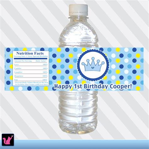 printable labels water bottles printable personalized water bottle labels blue by pinkthecat