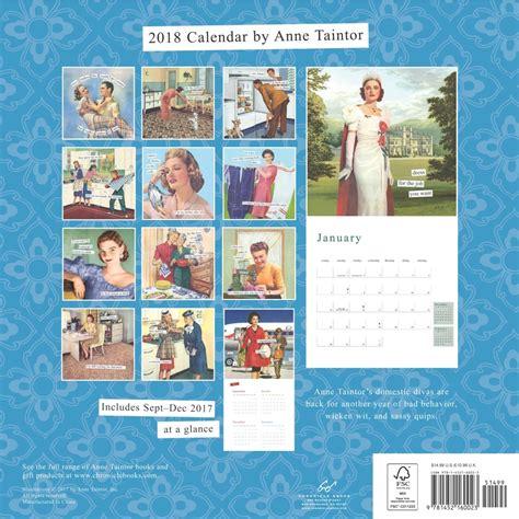 Chronicle Calendar Taintor Wall Calendar 2018 Chronicle Books