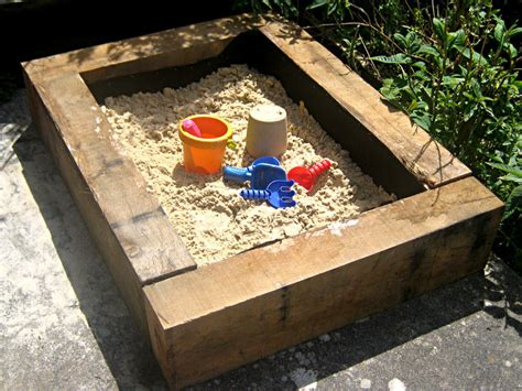 sand in pit building a sand pit using railway sleepers timberclick