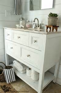 powder bathroom vanity makeover the wood grain cottage