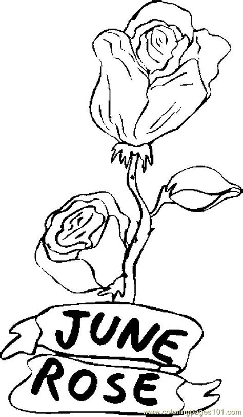 flowers of the month coloring pages free coloring pages of roses flowers