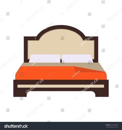 bed vector bed double bedroom icon vector image stock vector